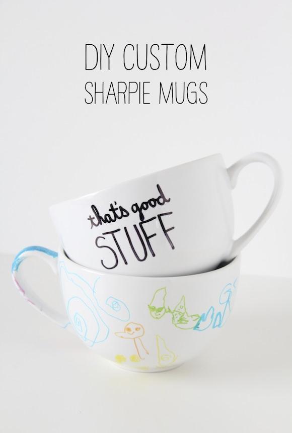 diy personalized sharpie mugs