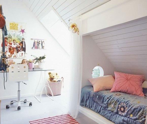 Turquoise Wallpaper For Girls Bedroom 12 Ideas For Attic Kids Rooms Handmade Charlotte