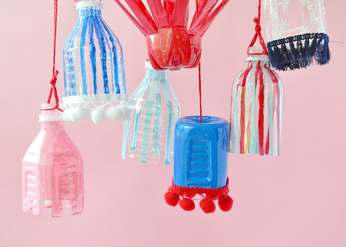 Recyclable Plastic Bottle Lanterns  Handmade Charlotte