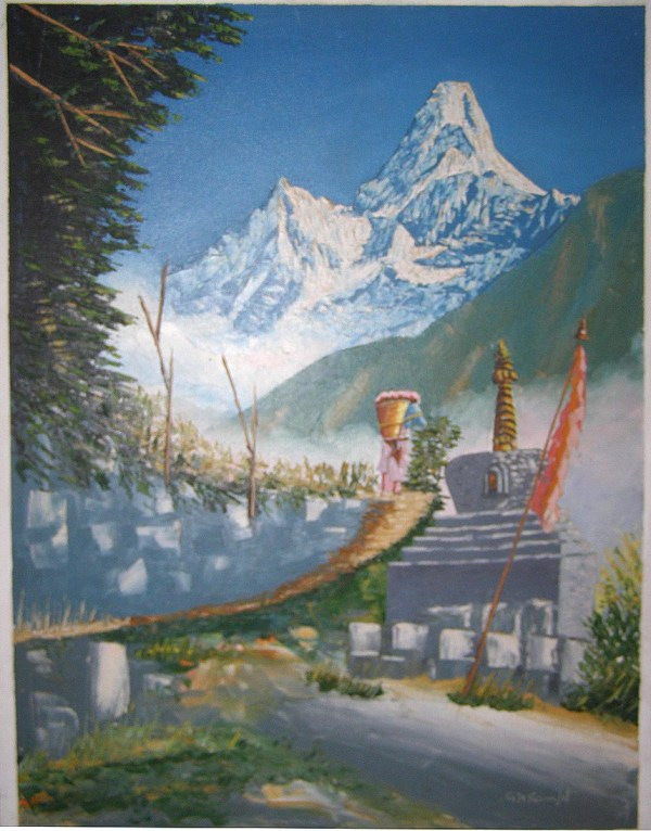 Oil Painting Mount Everest