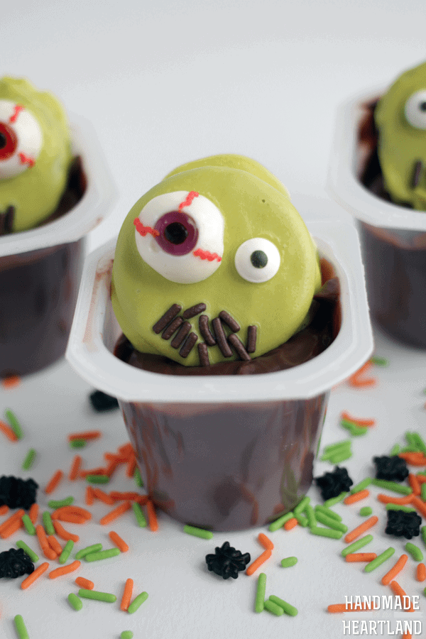 Zombie Halloween Snack Pack Pudding Cups