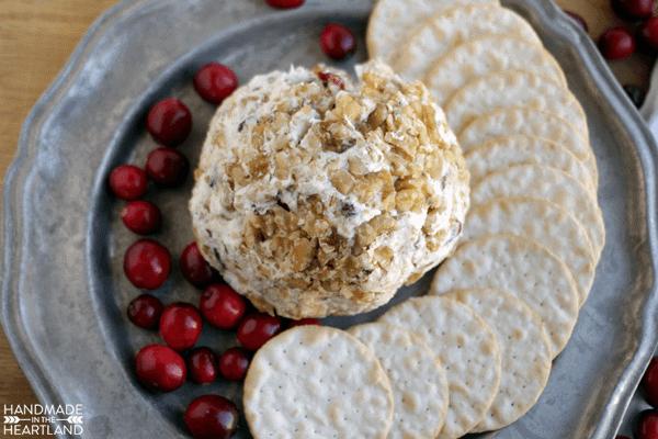 Cranberry, Walnut & Gorgonzola Cheeseball