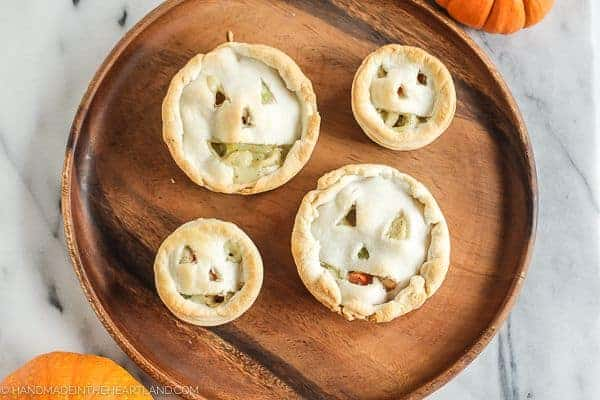 Jack-O-Lantern Chicken Pot Pies