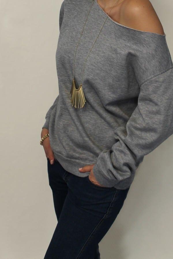 asymmetrischer oversize Pullover  HANDMADE Kultur