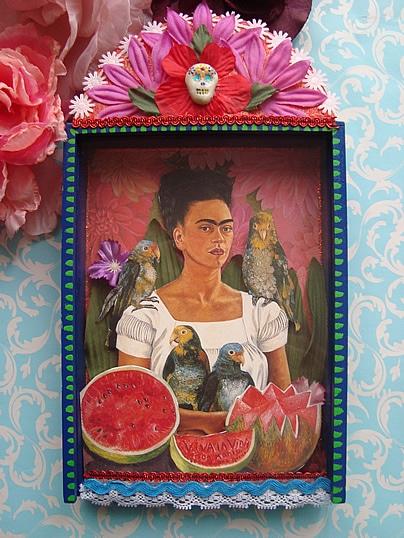Kurs Frida KahloDia del Muertos Schrein  Handmade Kultur
