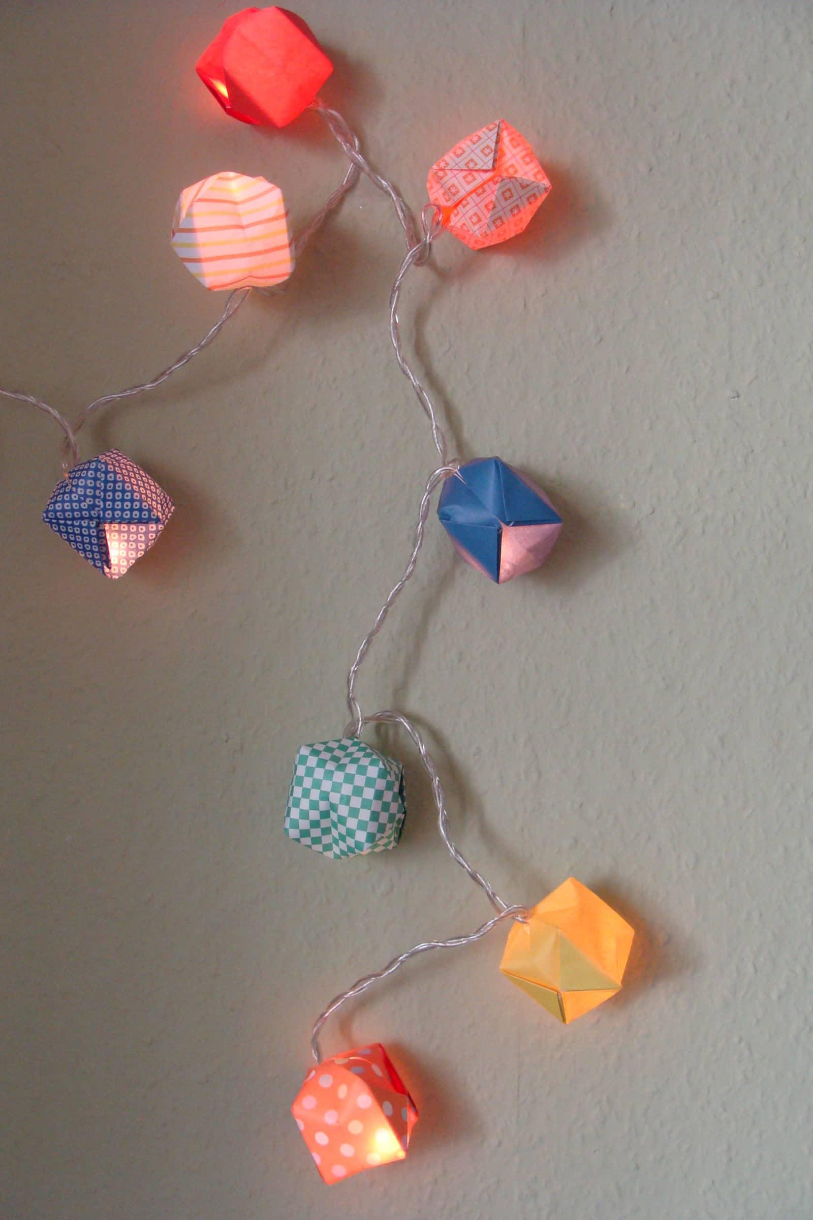 Einmal falten und pusten bitte Lichterkette mit bunten