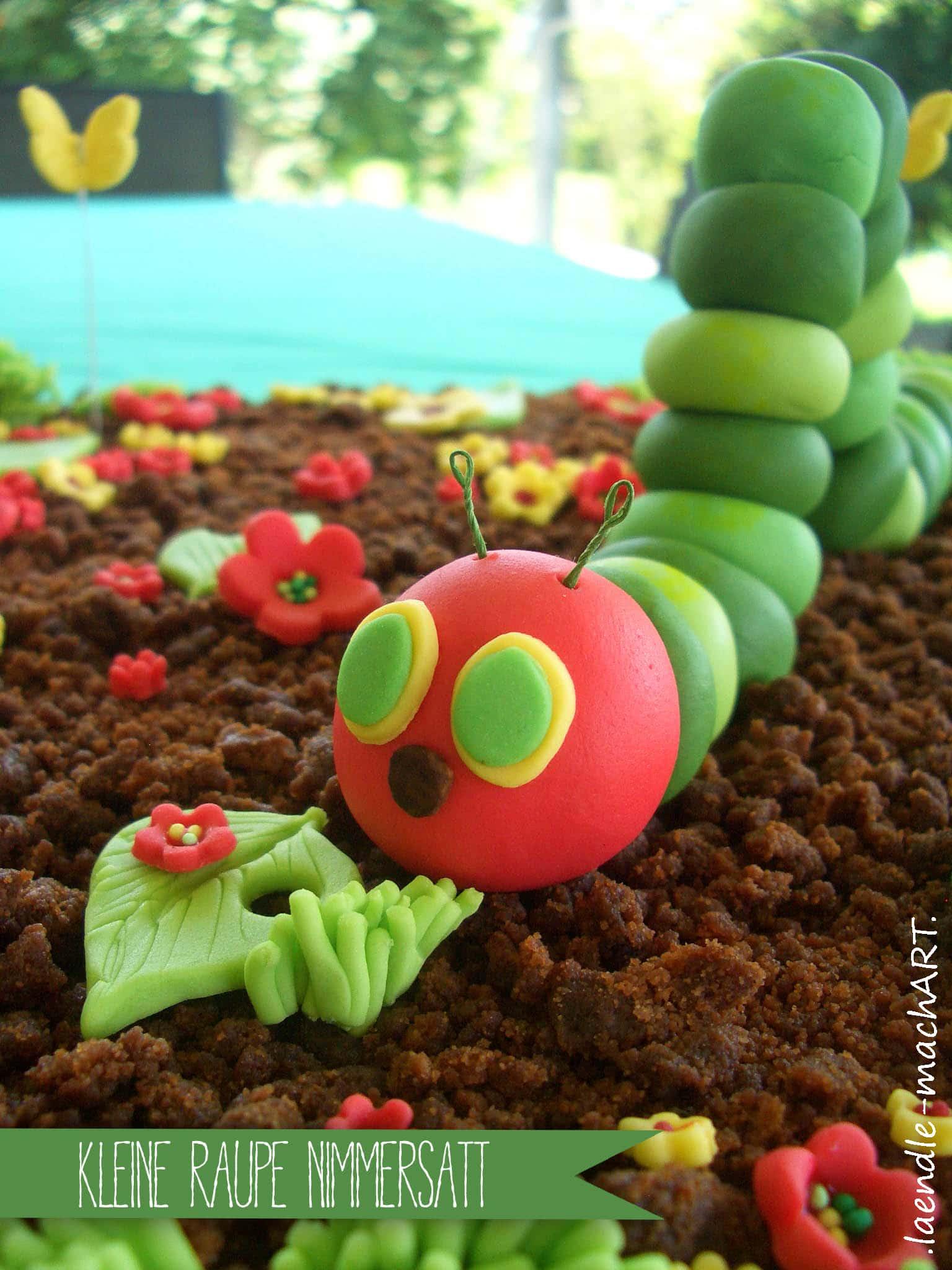 Kleine Raupe Nimmersatt  Groe Torte fr kleine Menschen