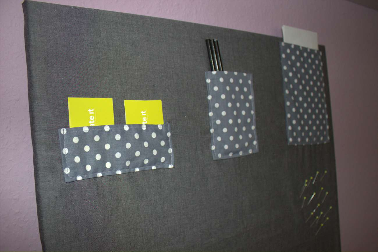 Pinnwand mit Stoff bezogen  HANDMADE Kultur