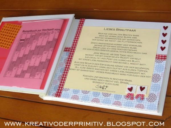 Rezeptbuch der Gste zur Hochzeit  HANDMADE Kultur