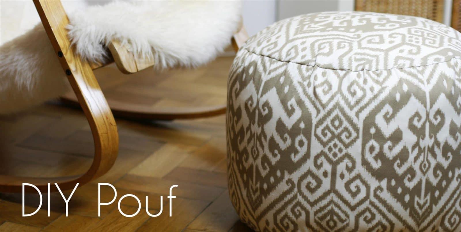 DIY Pouf  stylishes und superpraktisches Sitzkissen