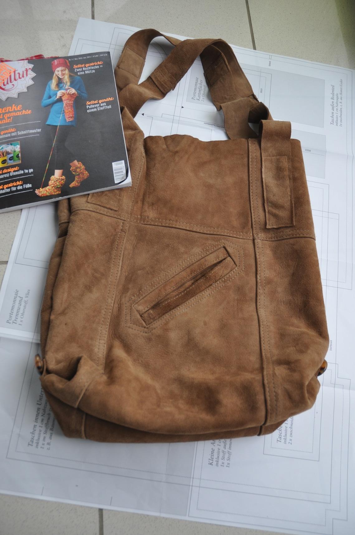 Tasche aus alter Jacke Nr2  HANDMADE Kultur