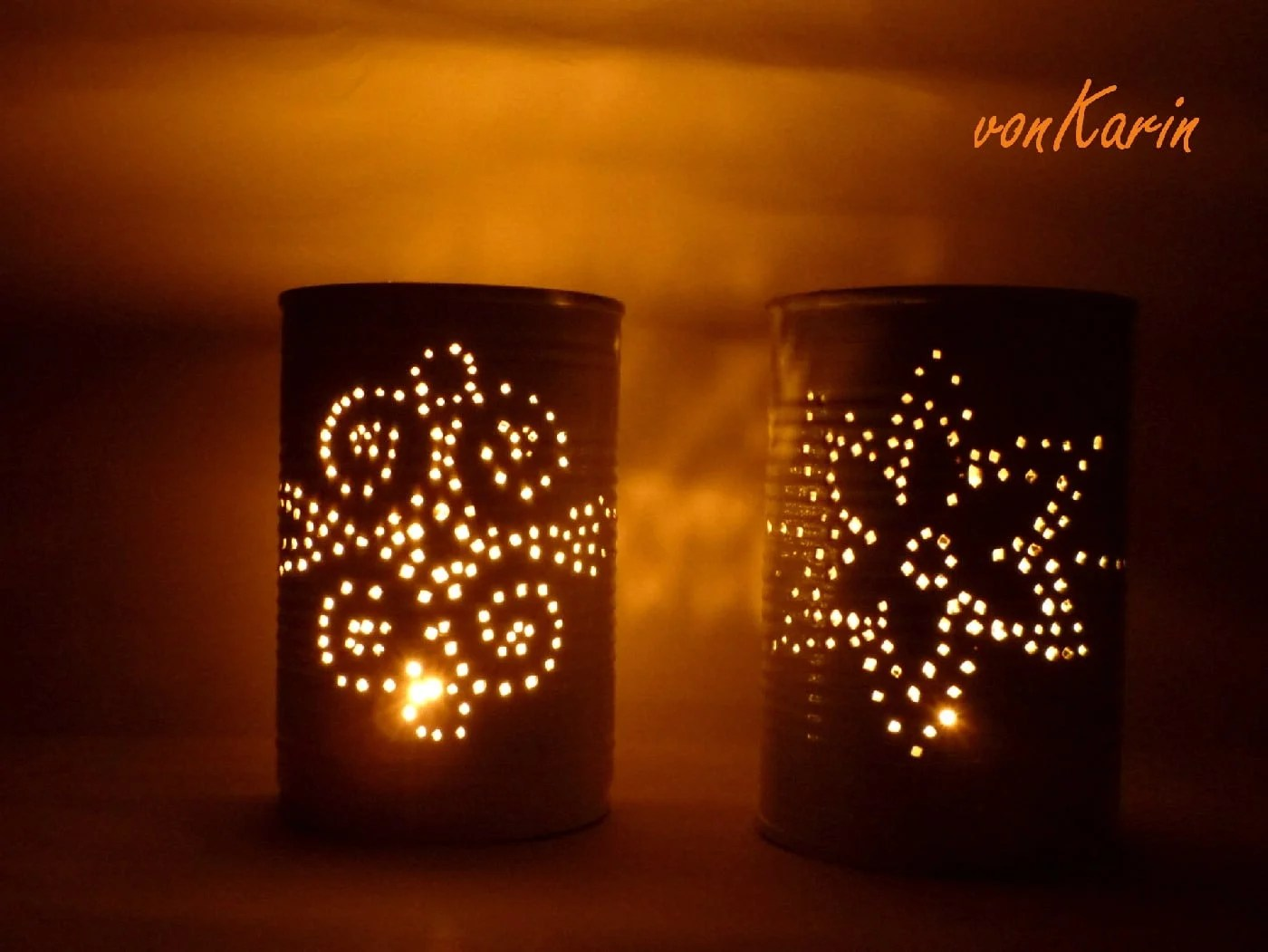Romantische Laternen aus Konservendosen  HANDMADE Kultur
