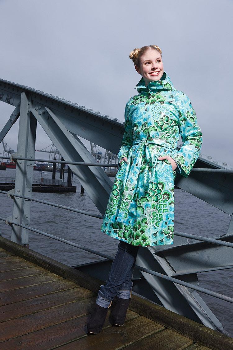 Regenmantel mit Strickfutter  HANDMADE Kultur