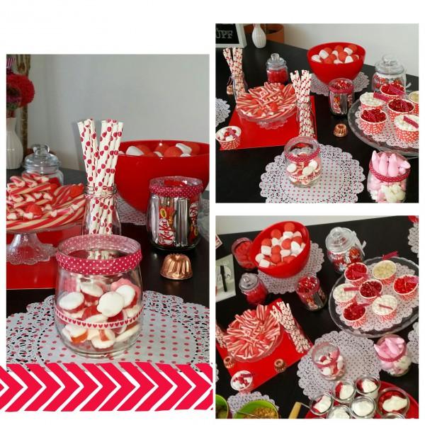 Candy Bar rotwei  HANDMADE Kultur