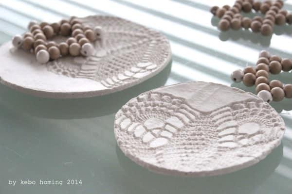 Schne Geschenkidee Schalen aus selbsttrocknendem Ton