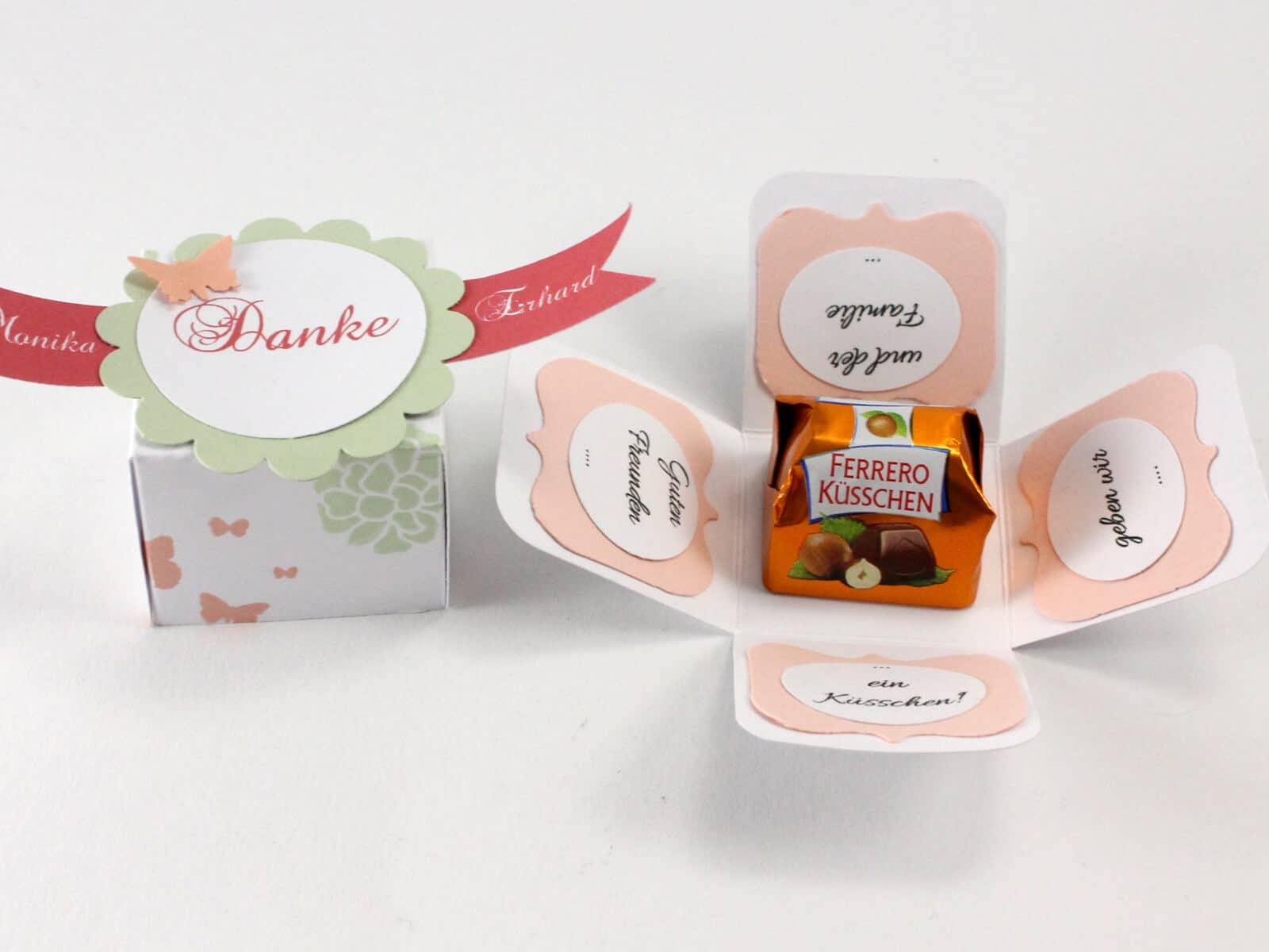 MiniExplosion Box fr Ferrero Ksschen  HANDMADE Kultur