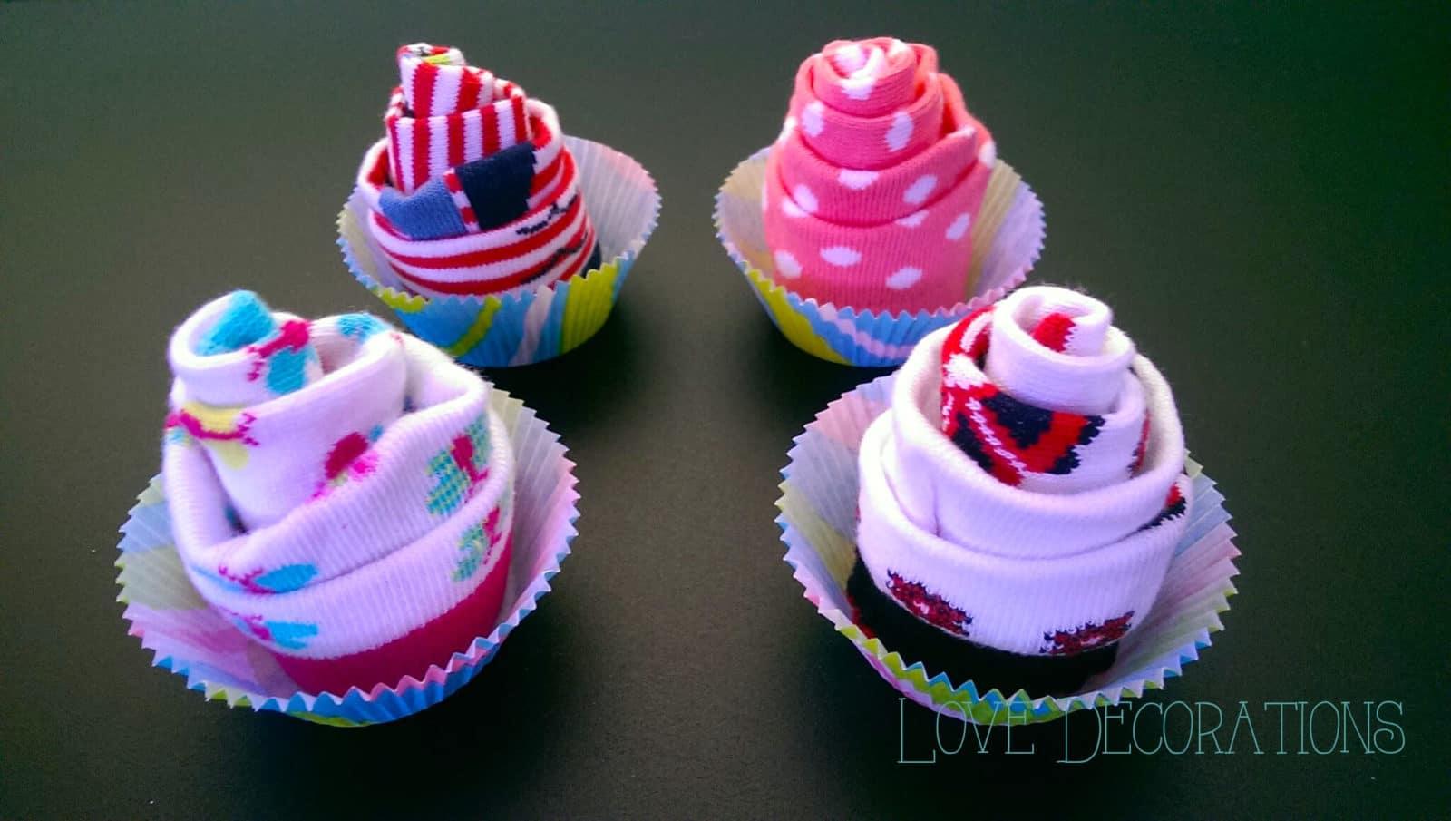 Cupcake aus Babysckchen  HANDMADE Kultur