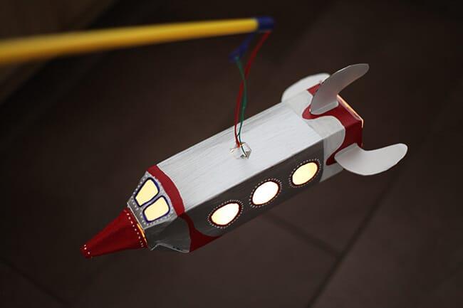 Laterne aus Tetrapack basteln  Raketenlaterne  HANDMADE Kultur