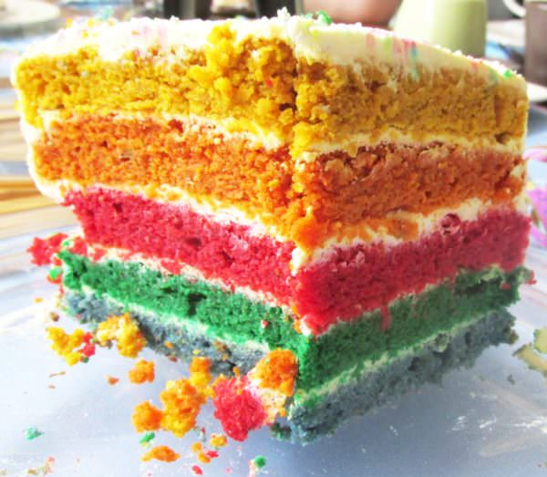 Regenbogentorte fr Kinder ohne Zucker  HANDMADE Kultur