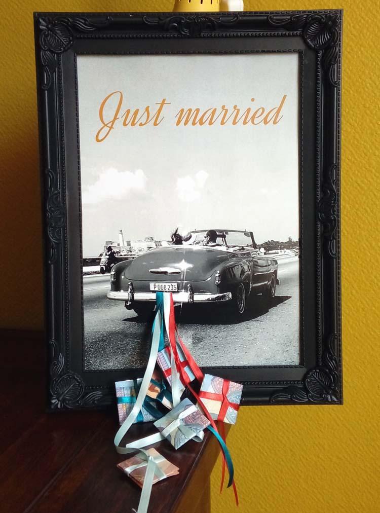 Geldgeschenk zur Hochzeit  HANDMADE Kultur
