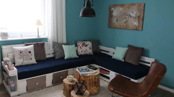 sofa couch online bestellen red bed sectional aus europaletten mit vielen extras!! - handmade kultur