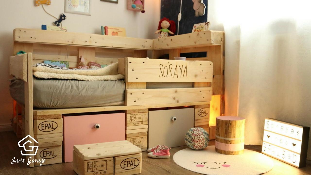 Kinderbett aus Europaletten selber bauen  HANDMADE Kultur