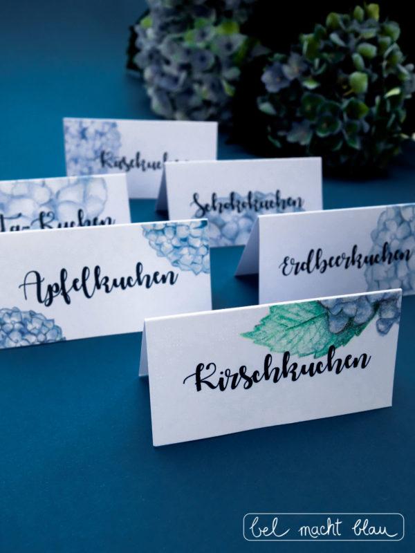 HortensienTischkarten zum Ausdrucken  HANDMADE Kultur