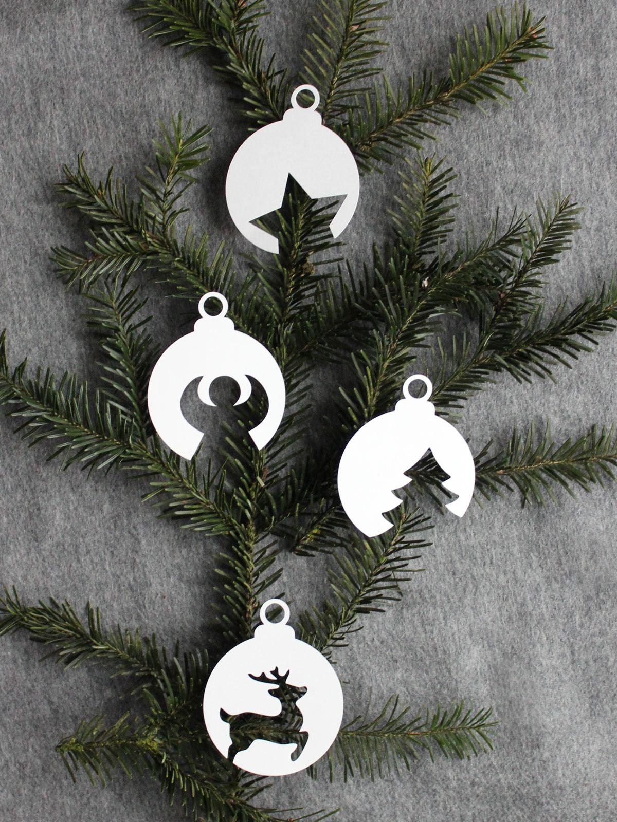 Weihnachtskugeln aus Papier mit Vorlage  HANDMADE Kultur