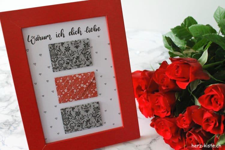 DIY Geschenk zum Valentinstag Warum ich dich liebe