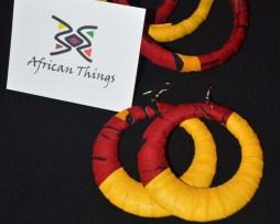 circle earring and bangle