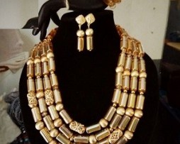 Gold beaded jewellry