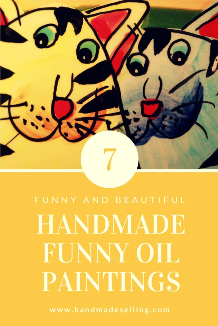 handmade funny oil paintings