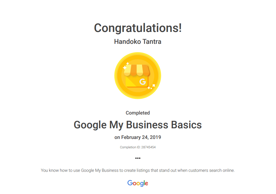 Setifikasi Google My Business