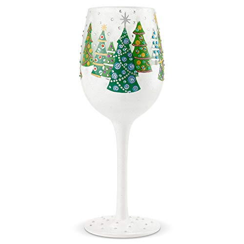 Enesco 6004428 Designs by Lolita Bling Cast a Spell Hand-Painted Artisan Wine Glass 22 Ounce Multicolor