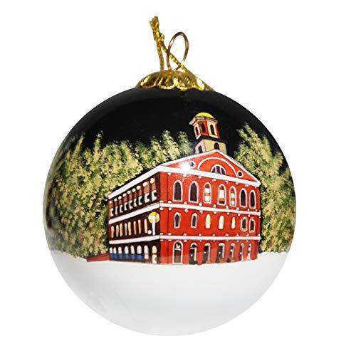 Art Studio Company Hand Painted Glass Christmas Ornament Boston Massachusetts Skyline