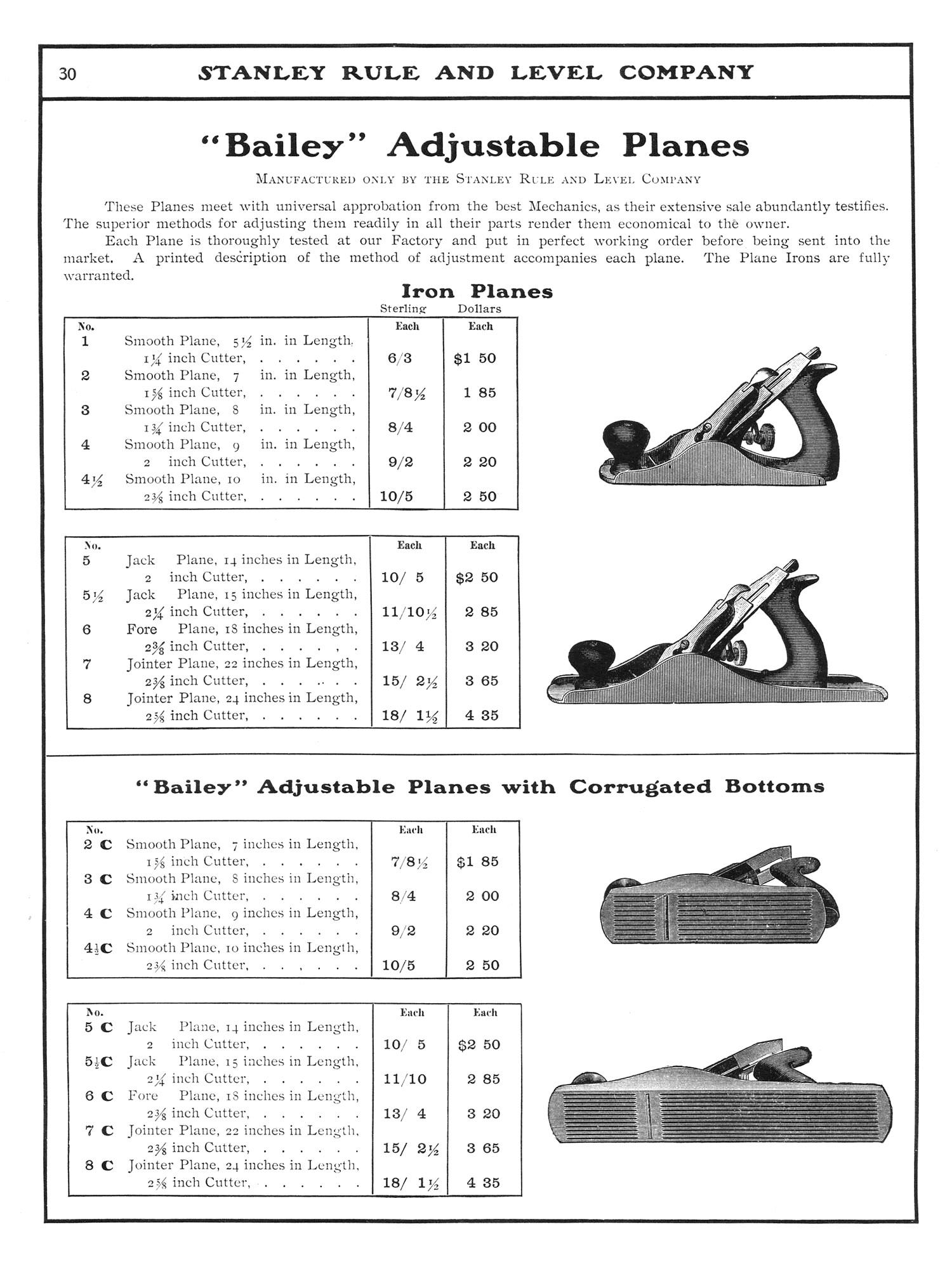 Stanley 1902 Catalog  Handplane Central