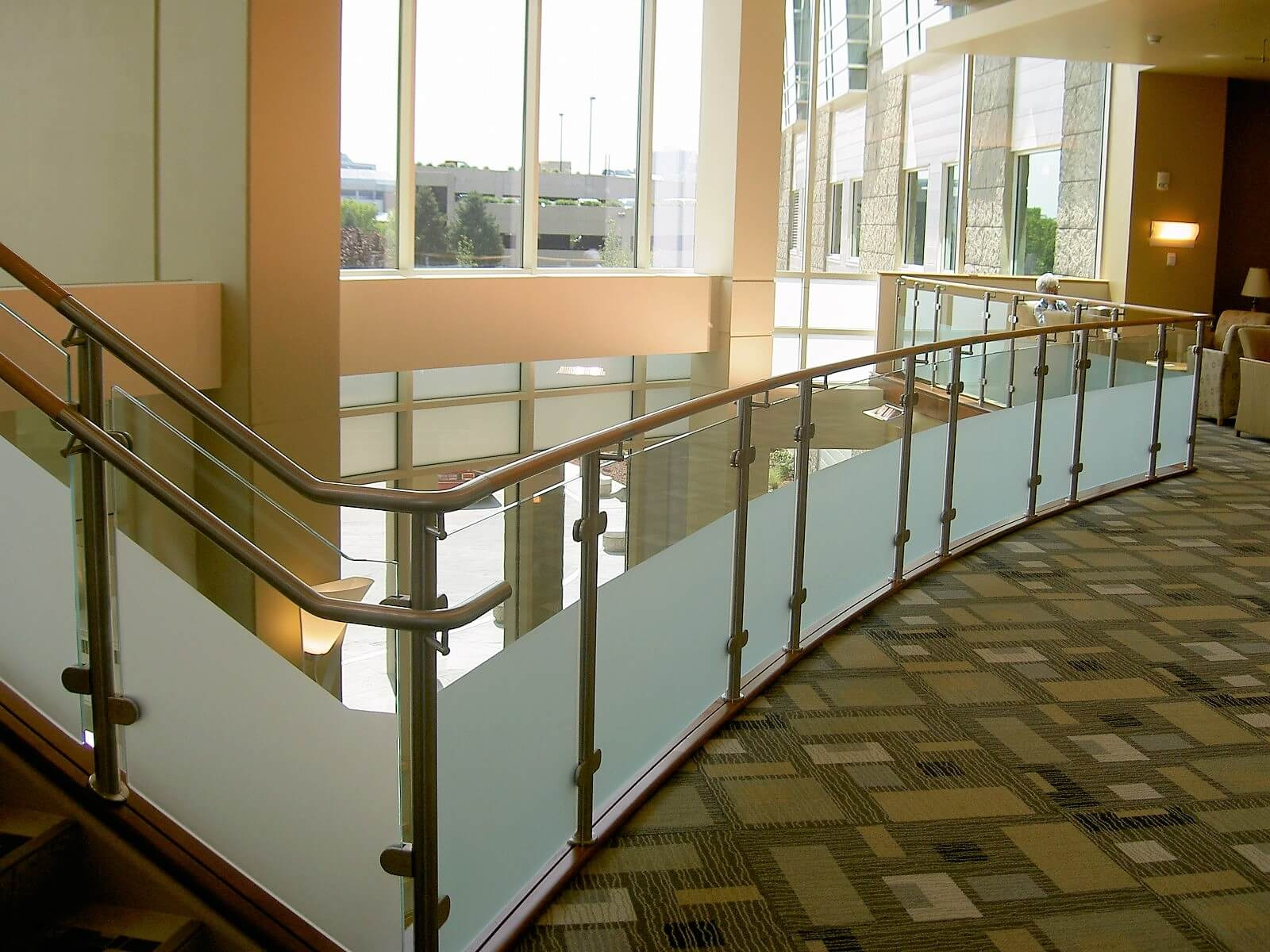 Glass Infill Photo Gallery Hdi Railing Systems | Frosted Glass Stair Panels | Smoked | Toughened | Deck | Balcony | Contemporary