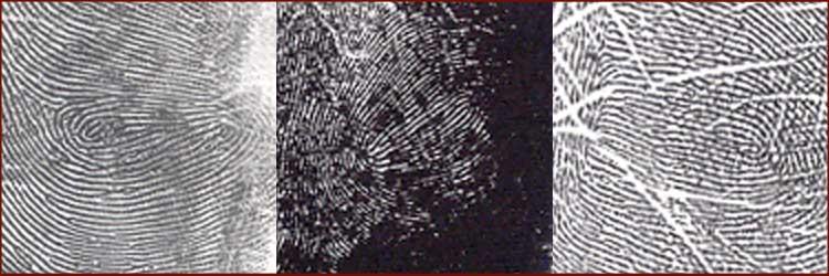3 Voorbeelden van een variant van de 'Maan spiraal' ('Moon whorl'): de 'Maan spiraal met een dubbel centrum'.
