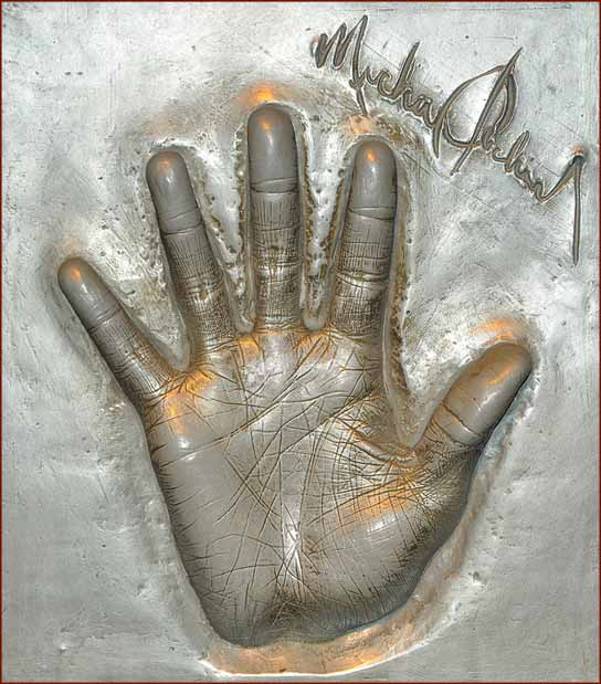 Michael Jackson's hand cast at Madame Tussauds.