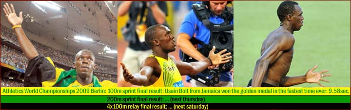 Usain Bolt, fastest man on earth, sprint talent is in his fingers!