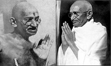 Mahatma Gandhi praying hands.
