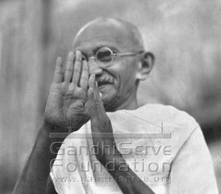The right hand of Mahatma Gandhi!