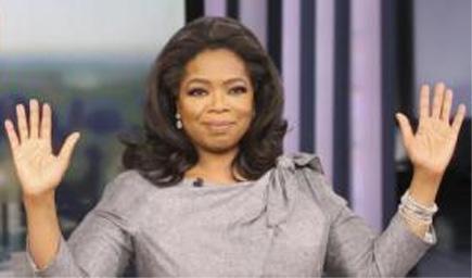 Oprah Winfrey: hands up!