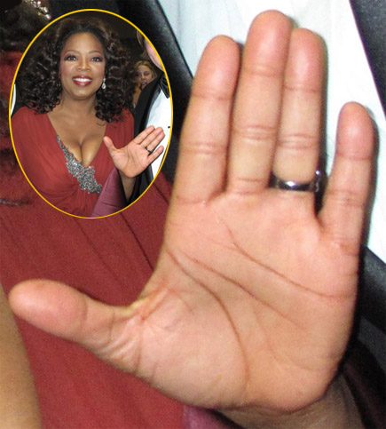 The left hand of Oprah Winfrey!