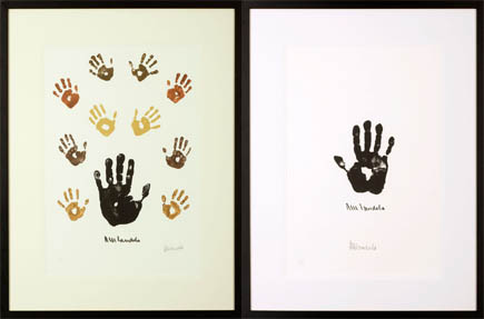 Impressions of Africa & Hand of Africa by Nelson Mandela.