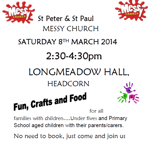 Messy Church web poster