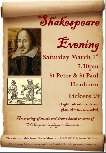 Shakespeare Evening web poster