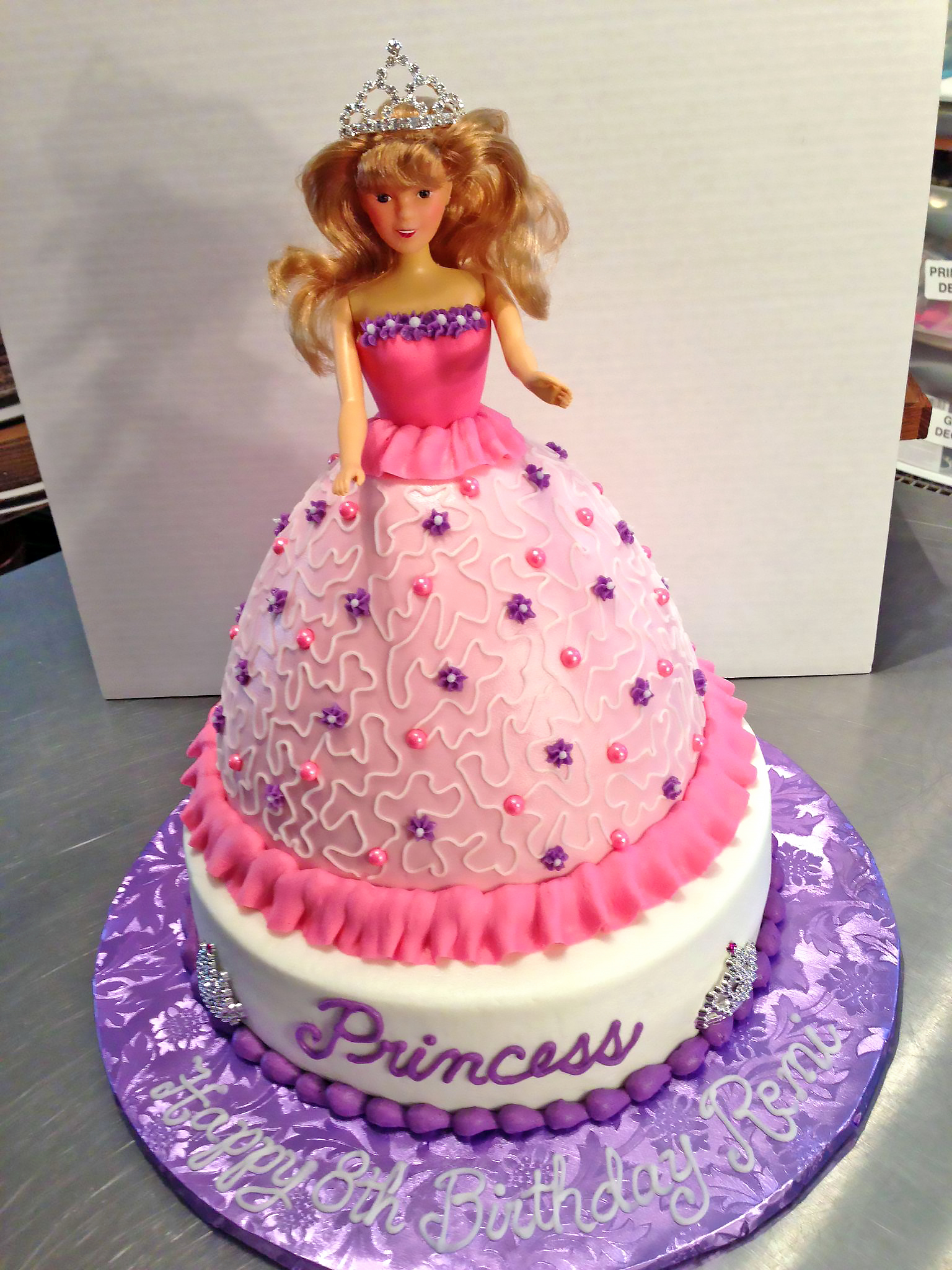 Princess Birthday Cake For Girls Hemmensland