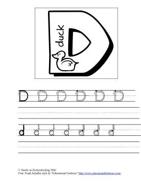 Letter Tracing Pages Hands on Homeschooling