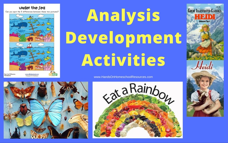 More Analysis-developing Activities